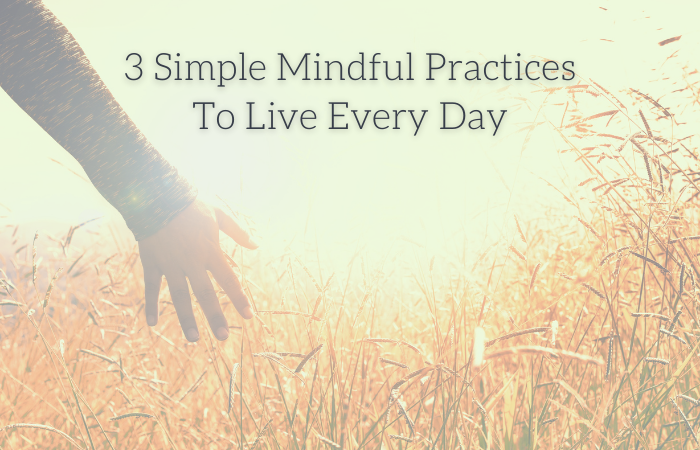 3 Simple Mindful Practices To Live Every Day
